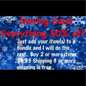 Everything in my closet is 50% off!